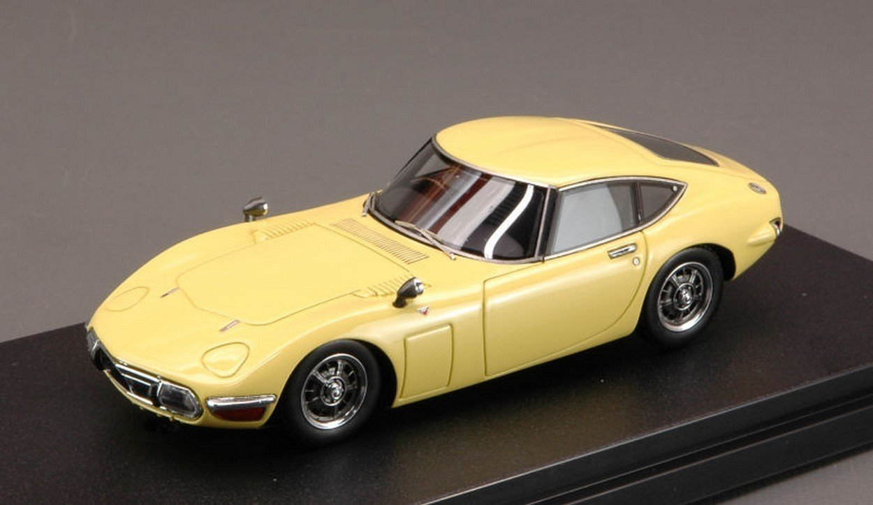 HPI Racing HPI8374 Toyota 2000 GT 1970 Bellatrix Yellow 1:43 MODELLINO Die Cast