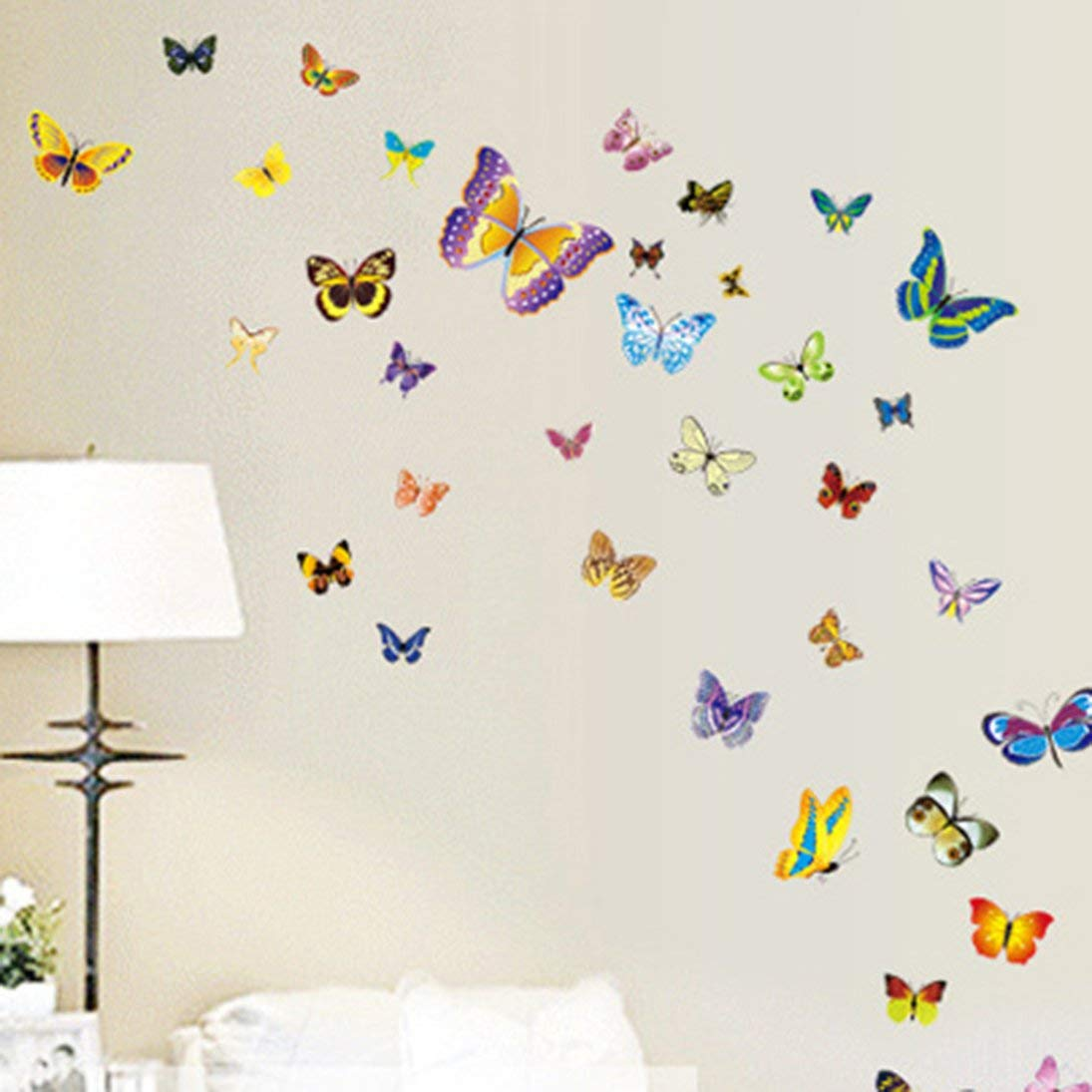 3d butterfly wall stckers wall decors wall art wall.htm amazon com baynne 50 pcs butterfly wall decor 3d butterfly wall  baynne 50 pcs butterfly wall decor
