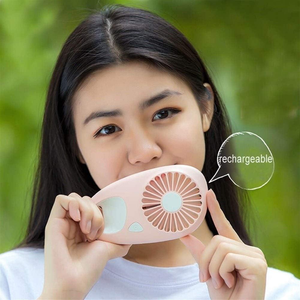 Mini Portable Cooling Fan Rechargeable Battery Fan Air Cooler Mini Fan for Car Outdoor Portable Fan USB Color : Blue