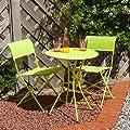 Marbella Garden Bistro Set for 2 - Green