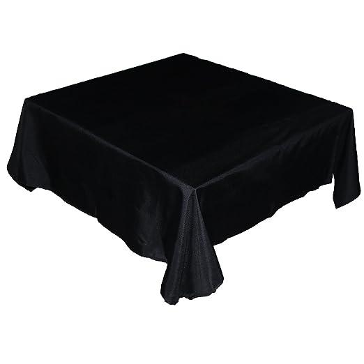 Amazon.com: KAITATSU SEN Square Polyester Fabric Tablecloth, Black,  54 Inch: Home U0026 Kitchen