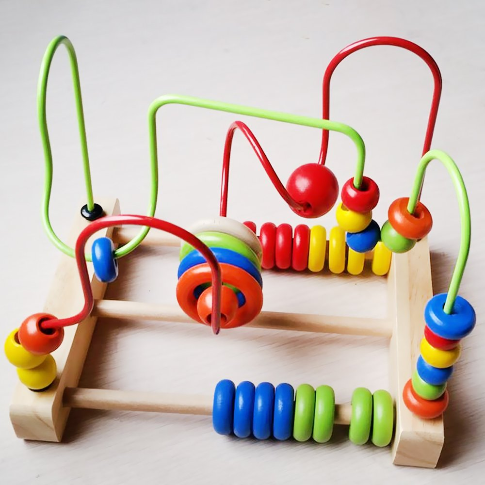 Brightly colored and multi-sensory, this maze toy is perfect for curious  babies wanting to explore!
