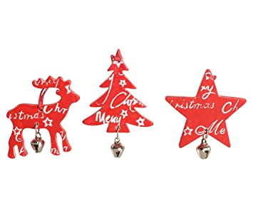 Bellad ECORA: Star, Reindeer, Christmas Tree Decoration Pack Of 6 U00272 U0026quot