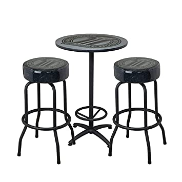 Astounding Amazon Com Harley Davidson Dark Custom Cafe Table And Bar Squirreltailoven Fun Painted Chair Ideas Images Squirreltailovenorg