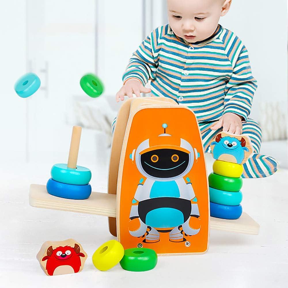 JW-YZWJ Puzzle de Equilibrio Jenga los niños del bebé círculo del Arco Iris Juguete Torre bebé Copa Anillo Equilibrio: Amazon.es: Deportes y aire libre