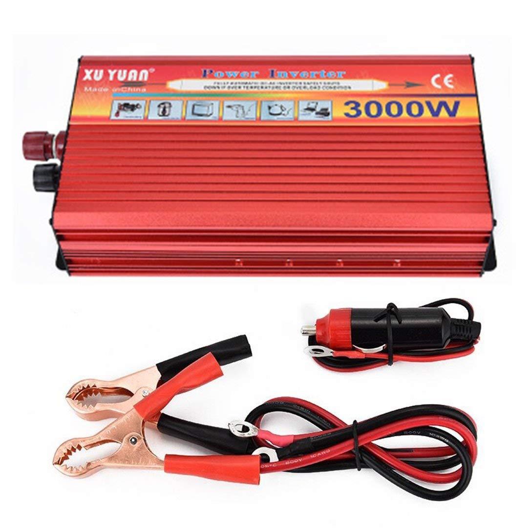 Xuyuan 3000W Solar Car Power Inverter portatile del convertitore di potere Caricabatteria da auto con protezione bassa tensione Alta Per la casa auto Monllack