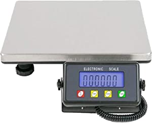 Heavy Duty Postal Shipping Scale,Digital Letter Parcel Postal Weighing Scales, Stainless Steel with External Display and Great Load Capacity Digital Commercial Food Meat Weight Scale 930