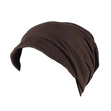 UJUNAOR Unisex Einfarbig Kopftuch Chemotherapie Cap Muslimische Kappe Indien Muslim Stretch Turban Hut