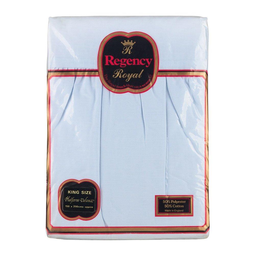 Regency Royal King Size Valance Sheet, Dark Blue DBL