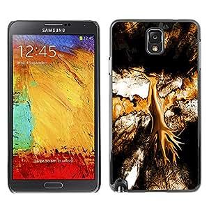 Smartphone PC carcasa dura para Samsung Note 3 N9000/funda TECELL/tienda marrón orlik pájaro arte Digital
