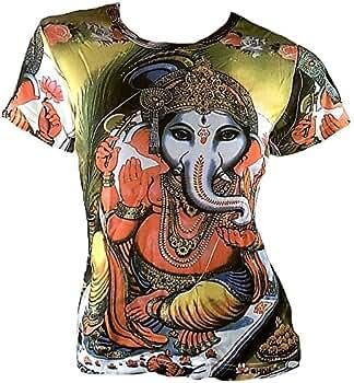 TICILA - Camiseta de Mujer Verde Popular Hindú Dios Lord Ganesh ...