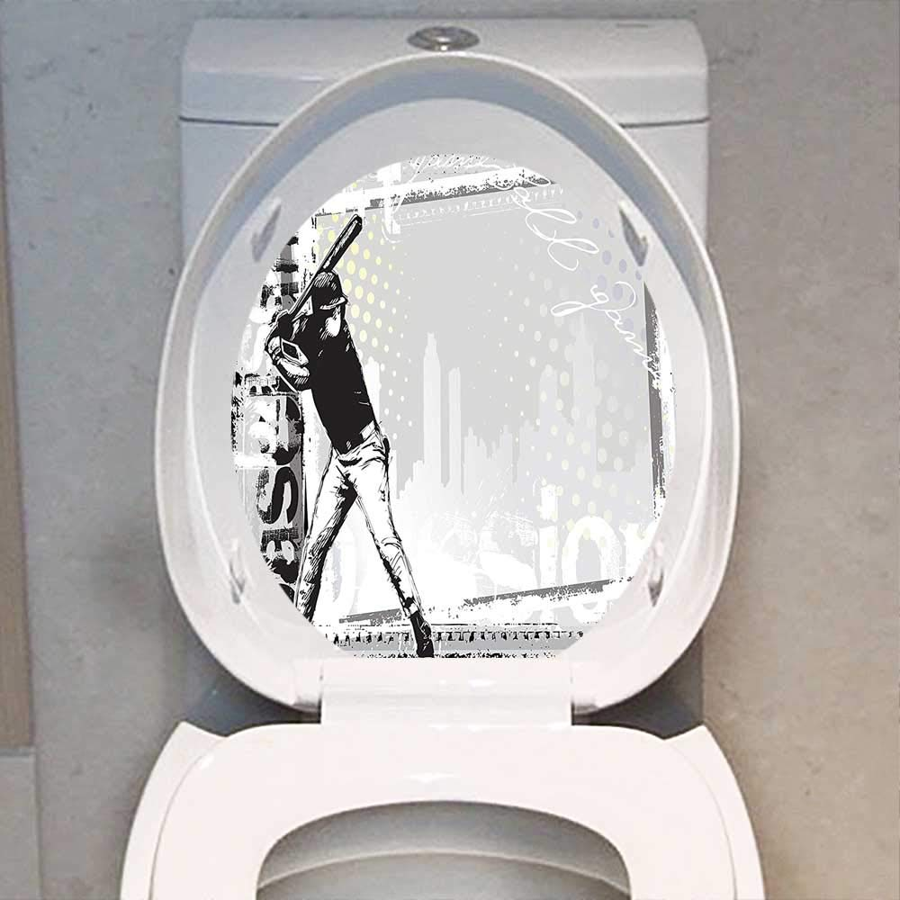 Prime Amazon Com Qianhe Home Toilet Seat Sticker Sports Decor Alphanode Cool Chair Designs And Ideas Alphanodeonline
