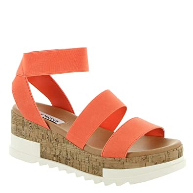9b26ab9347a Steve Madden Bandi Women s Sandal 6 B(M) US Orange