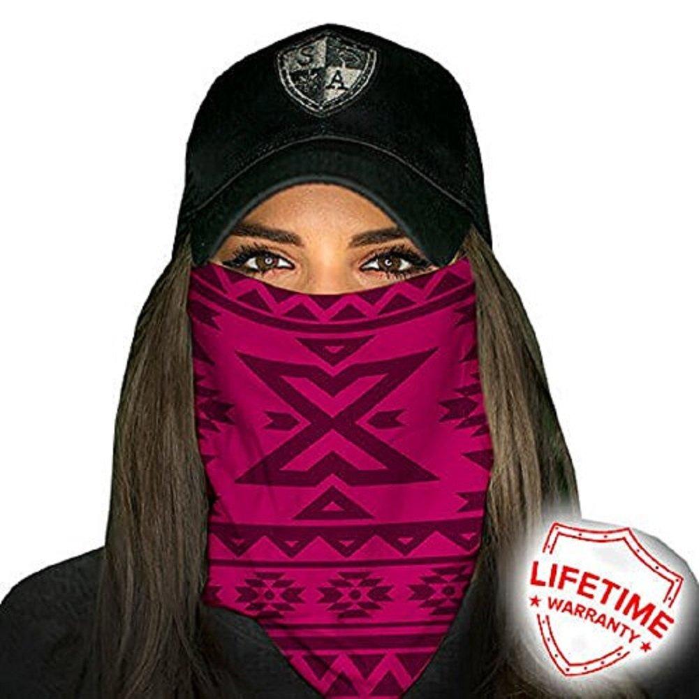 Face Shields for Women! SA CO Official Salt Armour Headbands (Aztec   Dark Pink)
