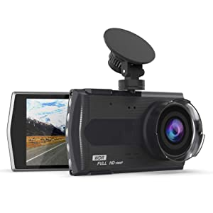 """Dash Cam 1080P FHD DVR Car Driving Recorder 3"""" LCD Screen 170°Wide Angle, G-Sensor, WDR, Parking Monitor, Loop Recording, Motion Detection, 32GB Microsd Card"""