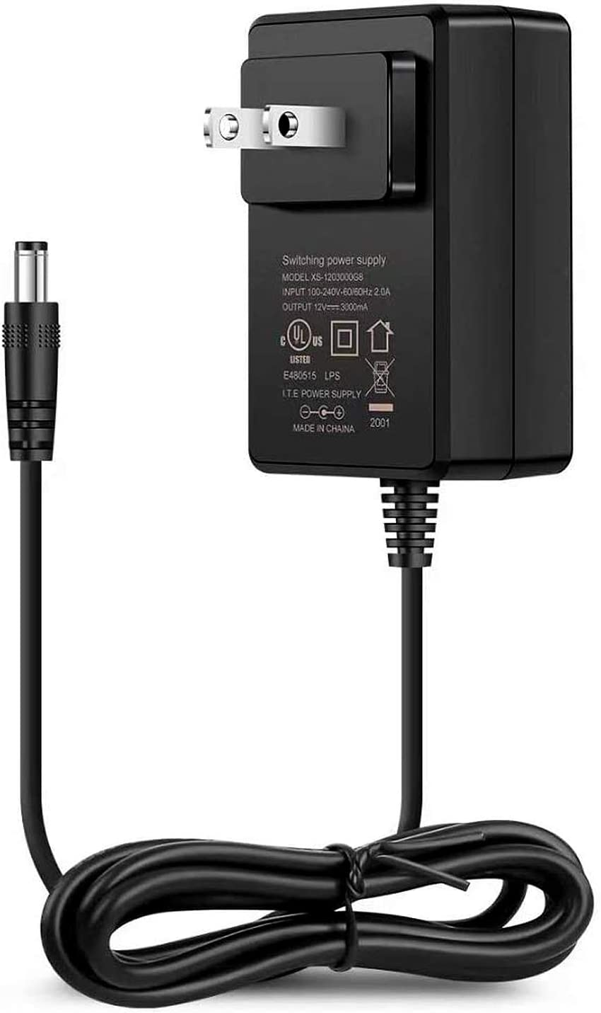Amazon Com Joylit Ac 100 240v 50 60hz To Dc 12v 3a 36w Power Supply Adapter Ul Listed 12 Volt 3amp Transformer 2 1x5 5mm Center Positive 5ft Cord Us Plug Wall Charger Adaptor For Led Strip