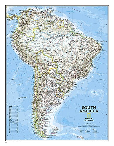 South America Classic [Tubed] (National Geographic Reference Map)