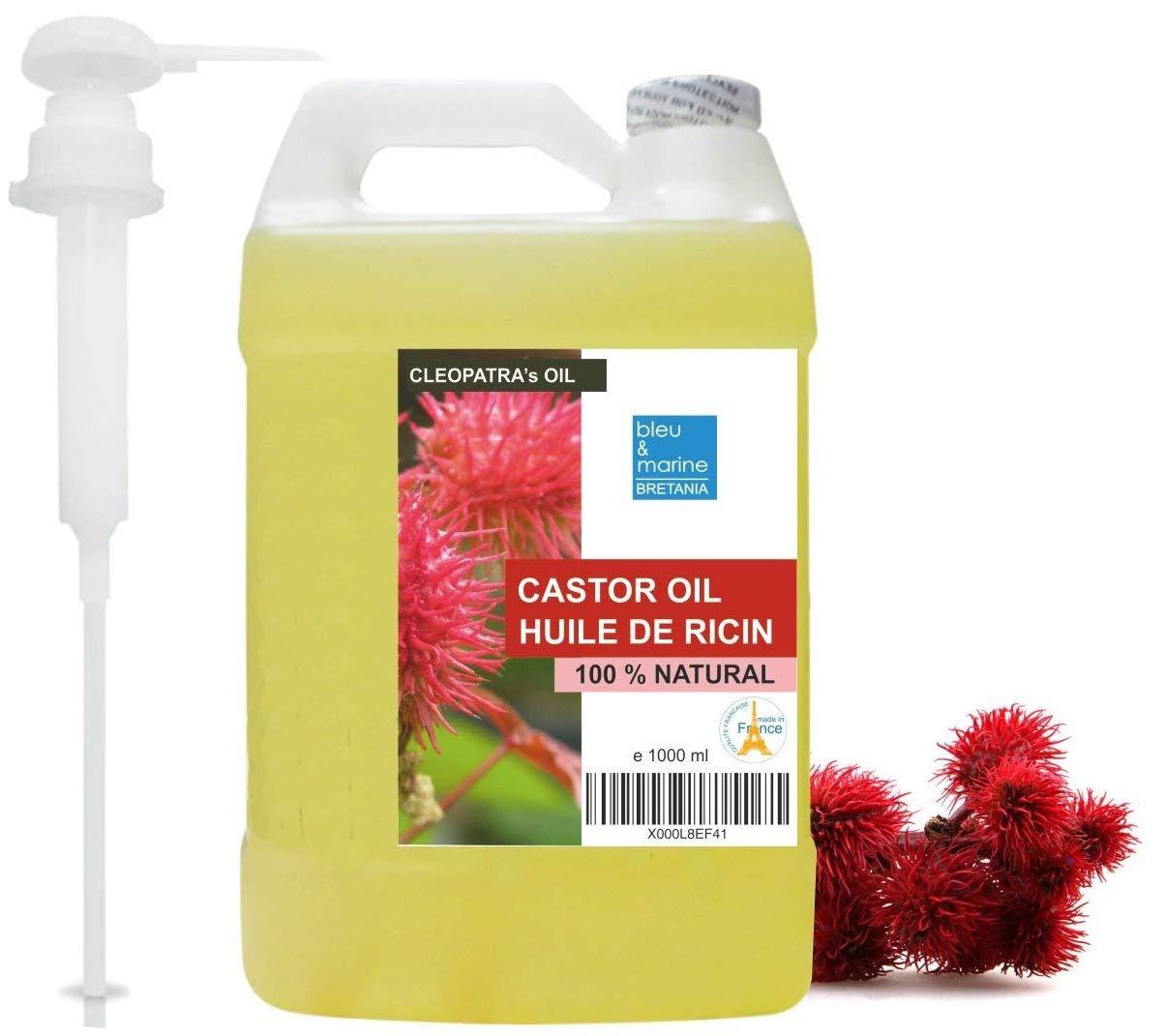 Aceite de Ricino Puro Natural 1000 ml - Castor Oil - Aceite de Belleza Anti bolsas, Suavizante Cabello, Hidratante Rostro, Nutritivo Piel y Reparador ...
