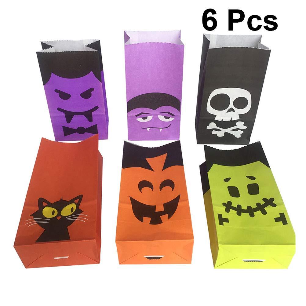Amazon.com: Hemoton 6 pcs Halloween Gift Bags Candy Bag ...