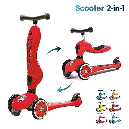 Kick Scooter para Niños 2 en 1, Ajustable Patinete 3 Ruedas ...