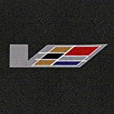 Lloyd Mats - Classic Loop Ebony 5PC Floor Mats For Cadillac ATS-V with V Series Flag Applique
