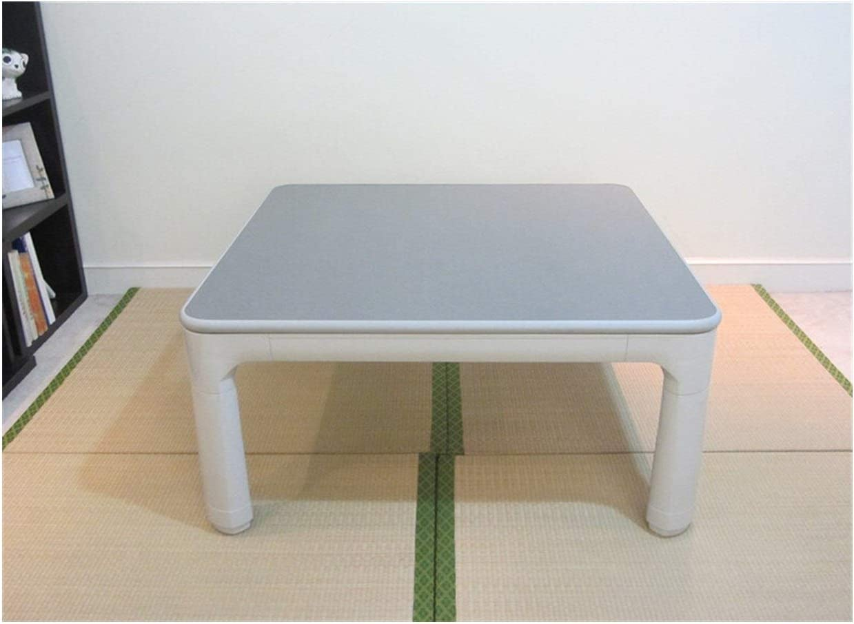 CharmingNight Japanese Kotatsu Furniture Legs Folding Reversible Top White/Gray Small Square 75cm for 1-2 Person Low Heated Asian Low Table Creativity