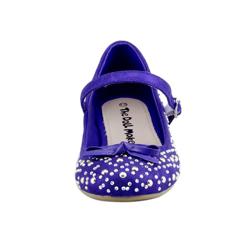 The Doll Maker Glimmer Ballet Flat FBA1631131C-3 Blue
