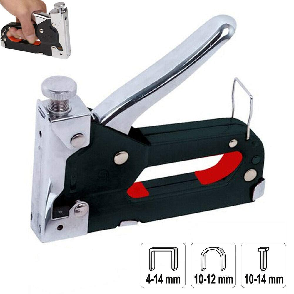 Heavy Duty Staple Nail Gun 3 in 1 Tacker Fixing Material Carpentry Furniture New