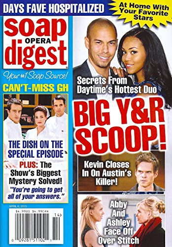 BIG YOUNG & THE RESTLESS SCOOP! l CAN'T-MISS GENERAL HOSPITAL EPISODE l At Home With Your Favorite Stars - April 6, 2015 Soap Opera Digest Magazine (The Young And The Restless April 2015)