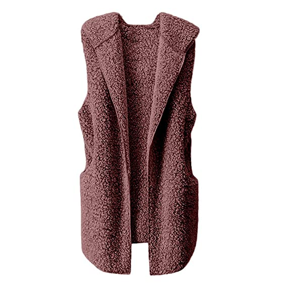 Hemlock Women Vest Coat Sleeveless Hoodies Cardigan Sweater Zip Up Sherpa Jacket Coat Outerwear Tops Pullovers at Amazon Womens Coats Shop