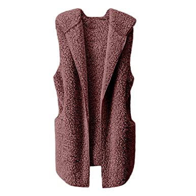 5b0c3a433bf Womens Coats And Jackets Liraly Fashion Vest Winter Warm Hoodie Outwear  Casual Coat Faux Fur Zip Up Sherpa Jacket at Amazon Women s Coats Shop