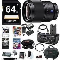 Sony 35mm f/1.4 ZA Standard-Prime Lens, VGC77AM Vertical Grip Bundle