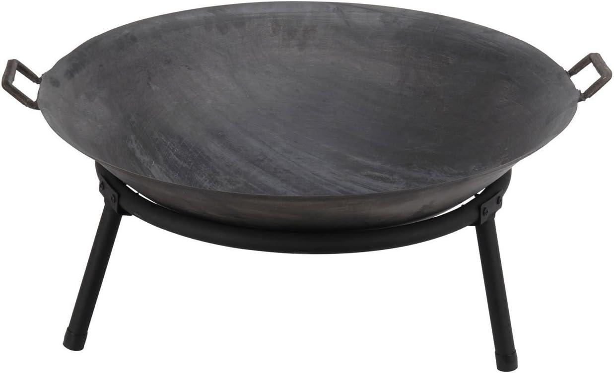 Brasero de ambiente con 3 patas de Eliware, en antracita, 60cm, negro