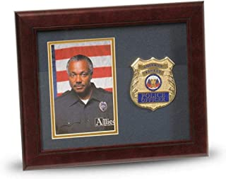 product image for flag connections US Police Officer Medallion Portrait Picture Frame - 4 x 6 Picture Opening