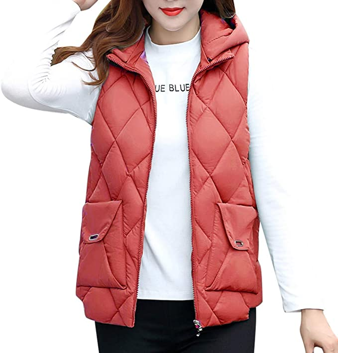 Donna cappotto Casual Plus Size giacca senza maniche Gilet Invernale Caldo Donna Comodi