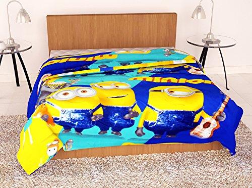 Story@Home Feather Cartoon Micro Fiber AC Comfort/Blanket/Quilt Dohar Single, Mustard