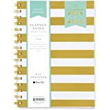 "Day Designer for Blue Sky 2018-2019 Academic Year Weekly & Monthly Planner, Flexible Cover, Twin-Wire Binding, 5.8"" x 8.6"", Gold Stripe Design"