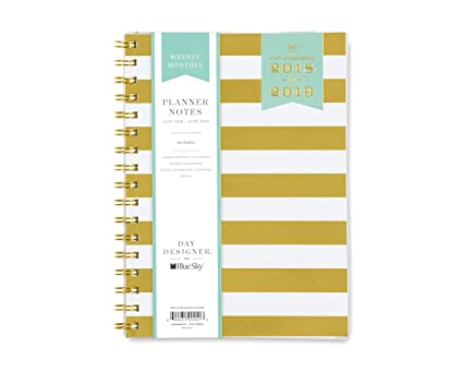 2018 striped kraft daily weekly monthly planner 16 month agenda sept 2017 dec 2018