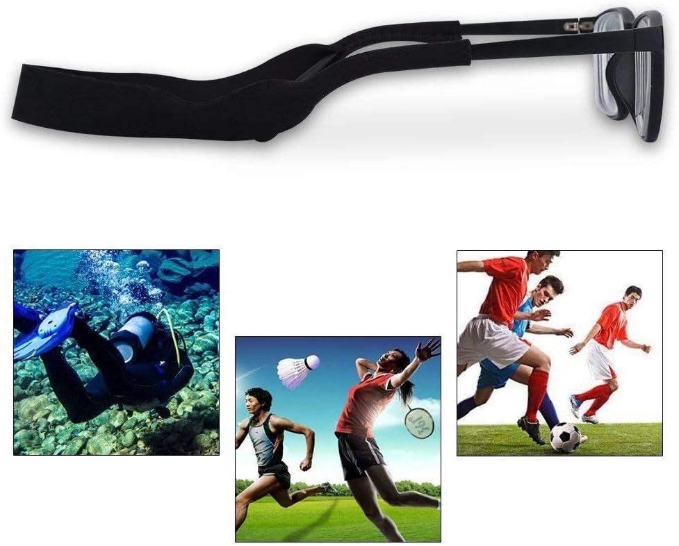 Titolare Sport Band for Gli Occhiali da Sole registrabili di Sport degli Occhiali da Sole di galleggiamento Fermo Strap Eyewear Fermo MAGT 5pcs Elastico Strap Occhiali Nero Colore : A