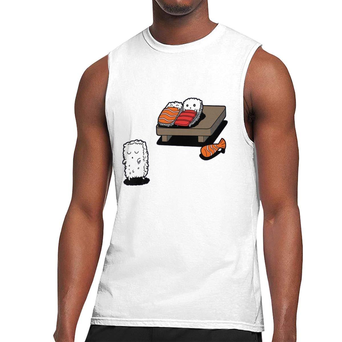 Seuriamin Sleepwalking Sushi Casual Walk Sleeveless Muscle Short Sleeve T Shirts