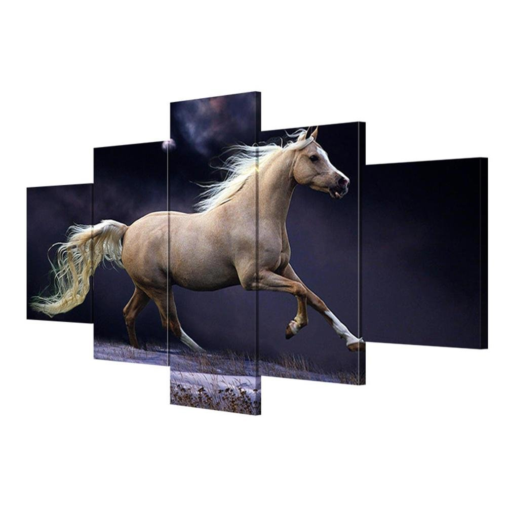 Giclée-Druck Extra große Leinwand Pferd Poster Leinwand Wohnzimmer Wanddekoration Malerei , With Borders , GrößeA B076P9XCZK | Discount
