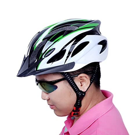 EverTrust(TM) 10 Colors! Ultralight Integrally-molded Cycling Helmet with Visor Mountain