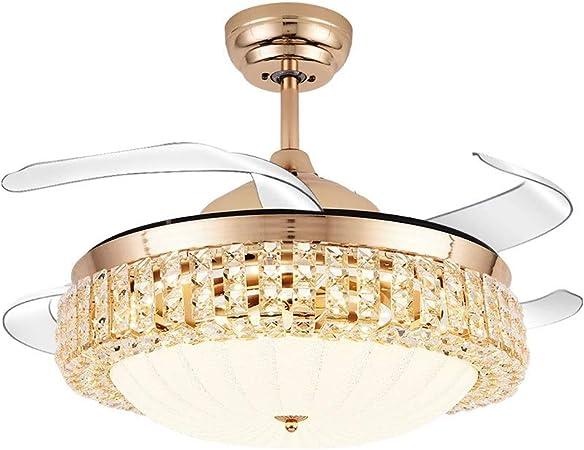 DEI QI 42 Pulgadas LED Ventilador de Techo Luz de Cristal 3 Modo ...