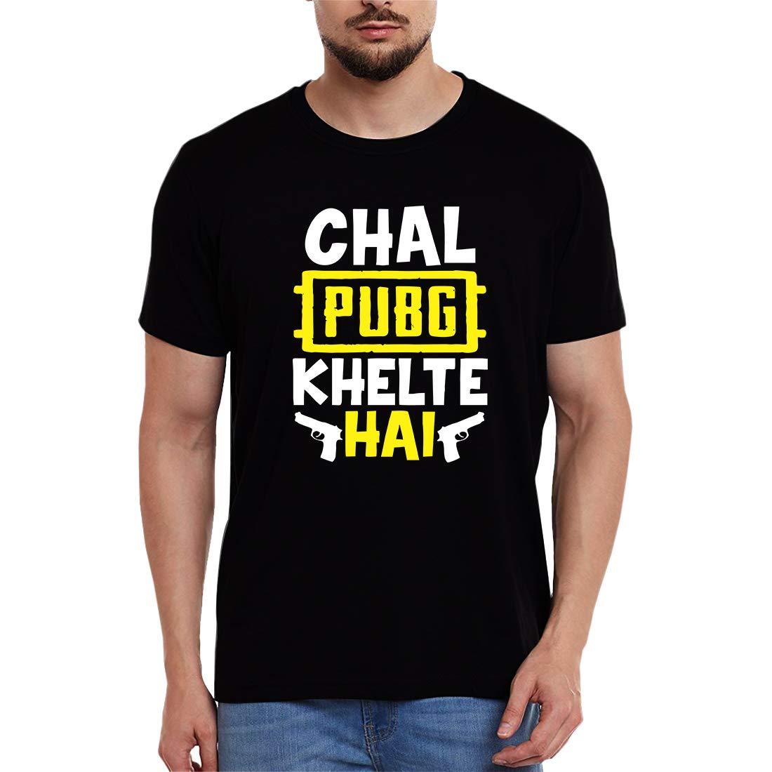 pubg tshirt , chal pubg khelte hai tshirt, playerunknownbattleground, tshirt, shirt