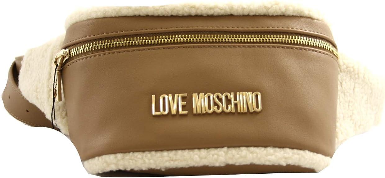 BORSA MARSUPIO TRACOLLA Love Moschino donna pelle marrone