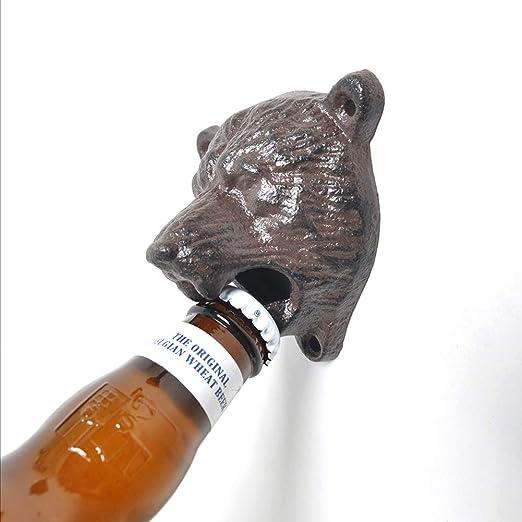Apribottiglie a forma di testa di animale ( testa di orso ) 1945933-FKUK-0108