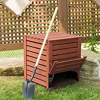 Amazon.com: Ocio temporada Compost Bin, Marrón medio: Jardín ...