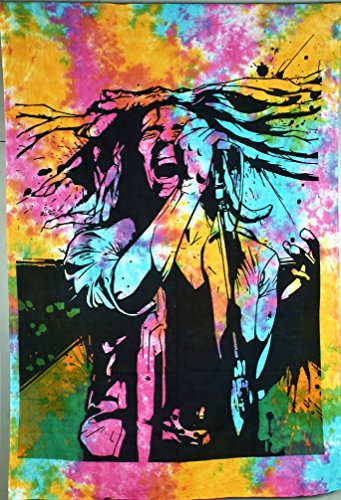 - ICC Bob Marley Laughing 54x84 In twin Hippie Bohemian Tapestry Psychedelic Flag Gift Wall Hanging Dorm Decor Blanket Tapestries Hippy Hippie Rasta Reggie Collage Mat Decoration (black and white)