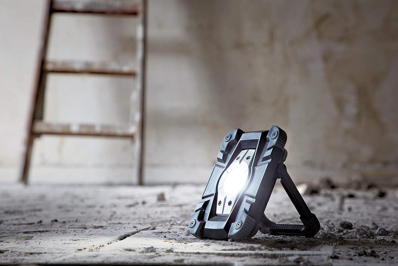 Brennenstuhl Akku LED Arbeitsstrahler//LED Strahler Akku schwarz//grau 5er Set Au/ßenleuchte 10 Watt, Baustrahler IP54, Fluter Tageslicht