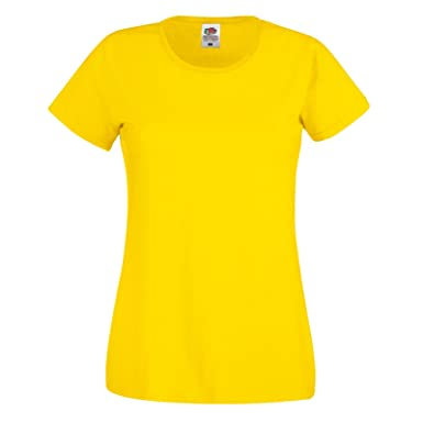 34d80538cb0c1c Fruit of the Loom Damen Modern T-Shirt: Amazon.de: Bekleidung